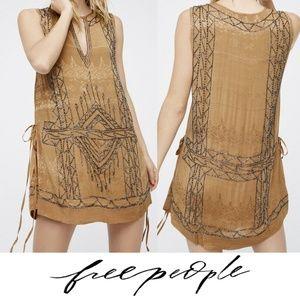 Free People Love Story Beaded Mini Dress Small